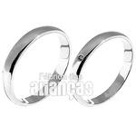 Alianças De Casamento Ouro Branco 18k Com Diamantes