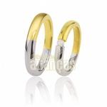 Alianças de Ouro Branco e Amarelo com Diamante