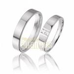 Alianças De Noivado e Casamento Em Ouro Branco 18k 0,750 Fa-344-b