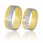 Alianças De Bodas De Ouro Amarelo 18k Com Diamantes