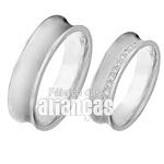 Aliança De Noivado e Casamento Em Ouro Branco 18k 0,750 Fa-407-b