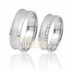Alianças De Noivado e Casamento Em Ouro Branco 18k 0,750 Fa-411-b