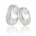 Alianças De Noivado e Casamento Em Ouro Branco 18k 0,750 Fa-521-b