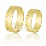 Alianças De Noivado e Casamento Em Ouro Amarelo 18k 0,750 Fa-542