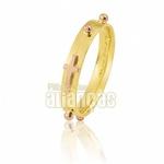 Aliança De Terço Em Ouro Amarelo 18k 0,750 Fa-547