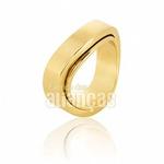 Alianças De Noivado e Casamento Em Ouro Amarelo 18k 0,750 Fa-573