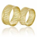 Alianças De Noivado e Casamento Em Ouro Amarelo 18k 0,750 Fa-576