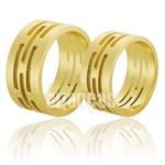 Alianças De Noivado e Casamento Em Ouro Amarelo 18k 0,750 Fa-579