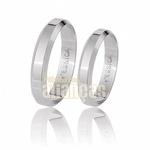 Alianças De Noivado e Casamento Em Ouro Branco 18k 0,750 Fa-58-b