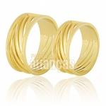 Alianças De Noivado e Casamento Em Ouro Amarelo 18k 0,750 Fa-595