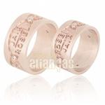 Alianças De Noivado e Casamento Em Ouro Rose 18k 0,750 Fa-603-r