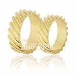 Alianças De Noivado e Casamento Em Ouro Amarelo 18k 0,750 Fa-632