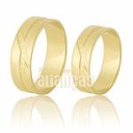 Alianças De Noivado e Casamento Em Ouro Amarelo 18k 0,750 Fa-633