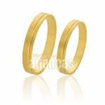 Alianças De Noivado e Casamento Em Ouro 18k