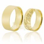 Alianças De Noivado e Casamento Em Ouro Amarelo 18k 0,750 Fa-651