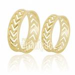 Alianças De Noivado e Casamento Em Ouro Amarelo 18k 0,750 Fa-655