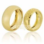 Alianças De Noivado e Casamento Em Ouro Amarelo 18k 0,750 Fa-656