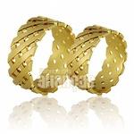 Alianças De Noivado e Casamento Em Ouro Amarelo 18k 0,750 Fa-678