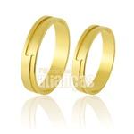 Alianças De Noivado e Casamento Em Ouro Amarelo 18k 0,750 Fa-684