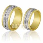 Alianças De Bodas Em Ouro Amarelo 18k 0,750 Fa-697