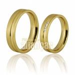 Alianças De Noivado e Casamento Em Ouro Amarelo 18k 0,750 Fa-700