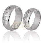 Alianças De Noivado e Casamento Em Ouro Branco 18k 0,750 Fa-701-b