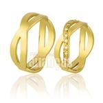 Alianças De Noivado e Casamento Em Ouro Amarelo 18k 0,750 Fa-721
