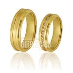 Alianças De Noivado e Casamento Em Ouro Amarelo 18k 0,750 Fa-729