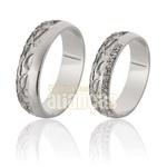 Alianças De Noivado e Casamento Em Ouro Branco 18k 0,750 Fa-732-b