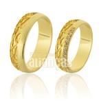 Alianças De Noivado e Casamento Em Ouro Amarelo 18k 0,750 Fa-732