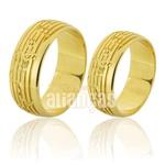 Alianças De Noivado e Casamento Em Ouro Amarelo 18k 0,750 Fa-783