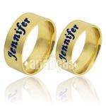 Alianças De Noivado e Casamento Em Ouro Amarelo 18k 0,750 Fa-738