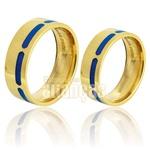Alianças De Noivado e Casamento Em Ouro Amarelo 18k 0,750 Fa-741