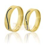 Alianças De Noivado e Casamento Em Ouro Amarelo 18k 0,750 Fa-745