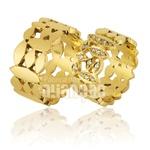 Alianças De Noivado e Casamento Em Ouro Amarelo 18k 0,750 Fa-760