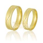 Alianças De Noivado e Casamento Em Ouro Amarelo 18k 0,750 Fa-768