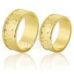 Alianças De Noivado e Casamento Em Ouro Amarelo 18k 0,750 Fa-772
