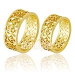 Alianças De Noivado e Casamento Em Ouro Amarelo 18k 0,750 Fa-773