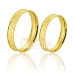 Alianças De Noivado e Casamento Em Ouro Amarelo 18k 0,750 Fa-780
