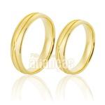Alianças De Noivado e Casamento Em Ouro Amarelo 18k 0,750 Fa-784