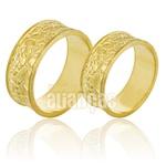 Alianças De Noivado e Casamento Em Ouro Amarelo 18k 0,750 Fa-788