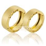 Alianças De Noivado e Casamento Em Ouro Amarelo 18k 0,750 Fa-792