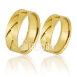 Alianças De Noivado e Casamento Em Ouro Amarelo 18k 0,750 Fa-796