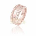 Aparador Para Aliança De Noivado e Casamento Em Ouro Rose 18k 0,750 Fa-810-u-r