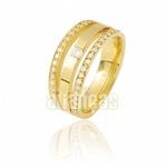Aparador Para Aliança De Noivado e Casamento Em Ouro Amarelo 18k 0,750 Fa-810