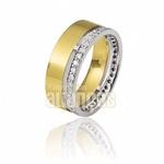 Aparador Para Aliança De Noivado e Casamento Em Ouro Amarelo 18k 0,750 Fa-812