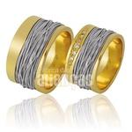 Alianças De Noivado e Casamento Em Ouro Amarelo 18k 0,750 Fa-853-b