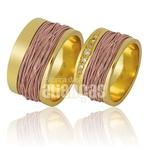 Alianças De Noivado e Casamento Em Ouro Amarelo 18k 0,750 Fa-853-r