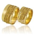 Alianças De Noivado e Casamento Em Ouro Amarelo 18k 0,750 Fa-853
