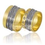 Alianças De Noivado e Casamento Em Ouro Amarelo 18k 0,750 Fa-854-b